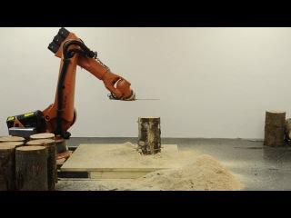 Робот для выпиливания табуреток
